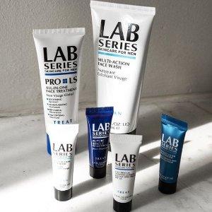 新用户8.5折+自选2件小样!Lab Series 专业男士护肤全线热促,送男友礼物首选