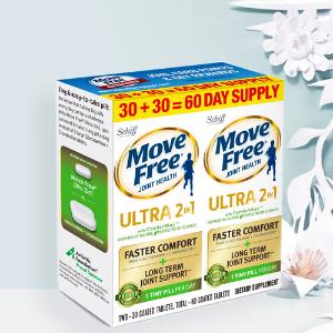 立減$6 最新款维骨力60粒仅$23最后一天:Move Free维骨力、MegaRede磷虾油、助消化益生菌大促