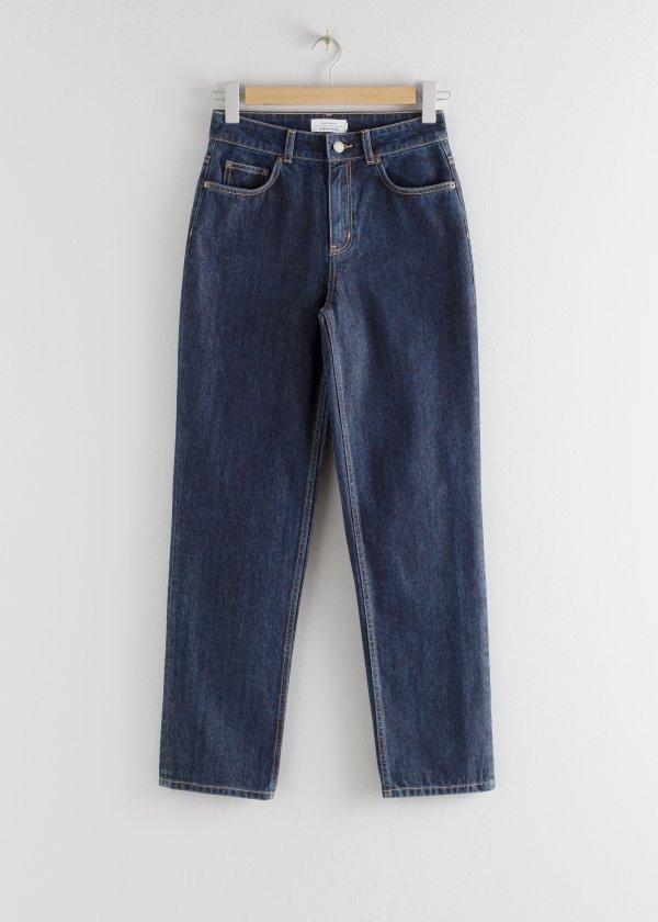 直筒牛仔裤