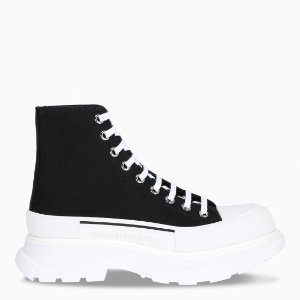 Alexander McQueen帆布厚底鞋