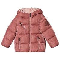 Moncler 玫瑰粉面包羽绒服