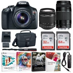 $399 w/ accessoriesCanon EOS REBEL T6 DSLR Camera Zoom two lens Kit