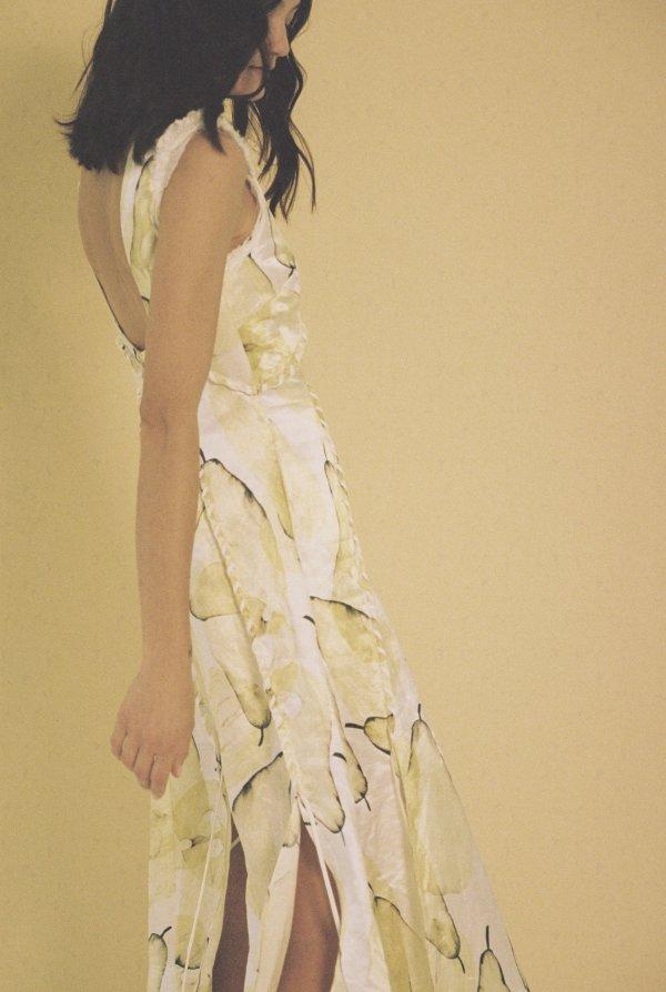 Unlace黄色印花裙