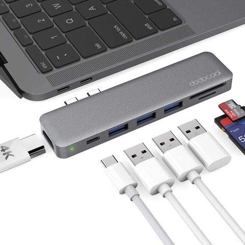 Apple MacBook 双插头七合一拓展坞 100w充电