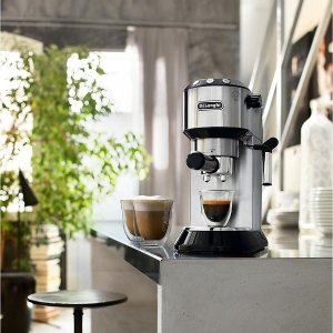 De'LonghiDedica 15-Bar Stainless-Steel Slim Espresso and Cappuccino Machine with 2 Cappuccino Glasses - Sam's Club