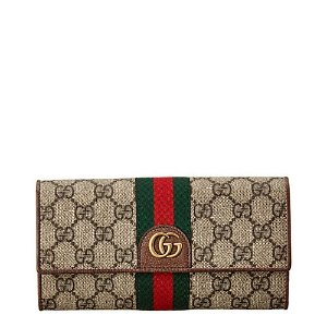 GucciThree Little Pigs GG Supreme Canvas Continental Wallet