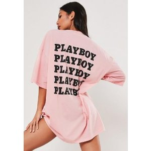 Missguided- Playboy xPink T恤