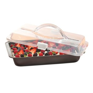T-fal Signature Covered Nonstick Cake Pan, 13 x 9