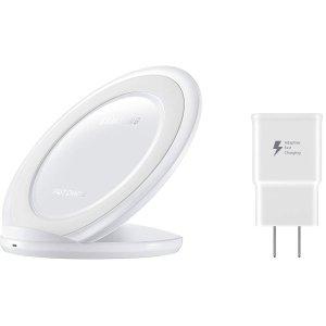 $32.79 (原价$69.99)Samsung Qi 无线快充底座 + 快充充电头