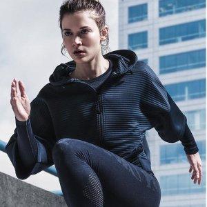 5折起Reebok官网 精选女士服饰 超低价收外套、卫衣、运动裤