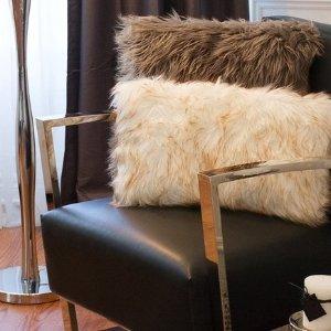 KineticBelton Faux Fur Pillow - Set of 2 -18