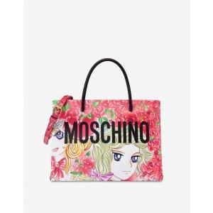 Moschino印花托特包