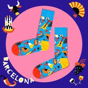 无门槛6折 超值价!Happy Socks 礼盒装限时闪促 超萌海绵宝宝、甲壳虫乐队限定