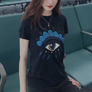 Kenzo100%纯棉眼睛T恤