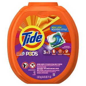 TidePODS HE Turbo Laundry Detergent Pacs, 81 count