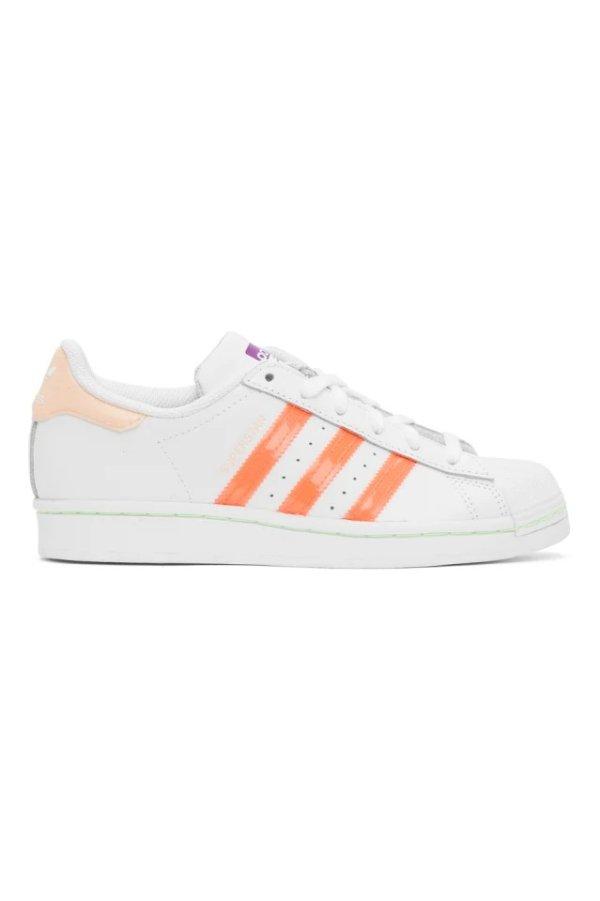 橙色贝壳鞋