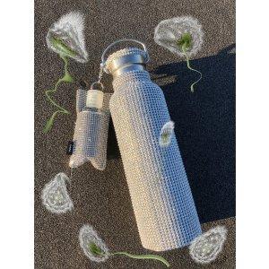 KaraCrystal Mesh Water Bottle & Keychain