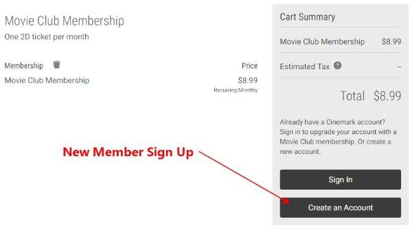 Movie Club New Membership benefit @Cinemark Free to Watch Pokemon