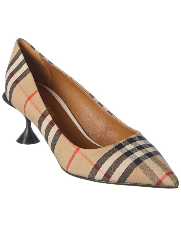 Vintage Check 高跟鞋