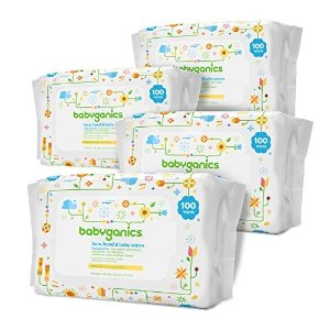BabyGanicsSave $15 when you buy $75Face, Hand & Baby Wipes, Fragrance Free, 400 Count (Contains Four 100-Count Packs)