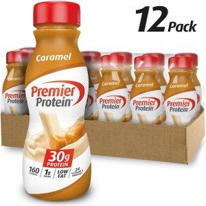 Premier Protein 高蛋白焦糖口味营养奶昔11.5oz 12瓶