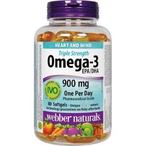 Webber Naturals3倍强效鱼油-3 EPA/DHA 80片