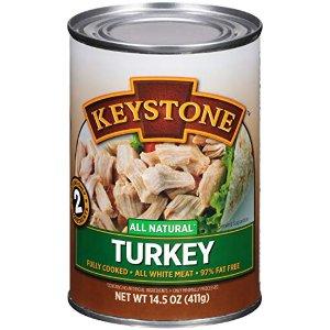 $4.99 亚马逊精选Keystone Meats 全天然罐装火鸡肉