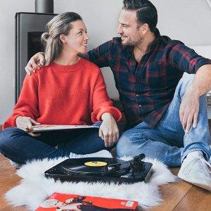 低至5.1折 $85收唱片机Lenco 黑胶唱片播放机 一机两用 USB接口可播放MP3格式
