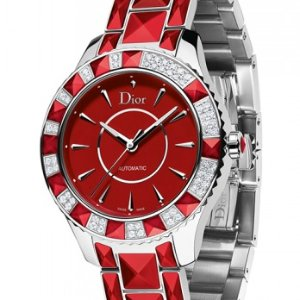 $2100 + Free ShippingDealmoon Exclusive: Dior Christal Diamond Red Automatic Ladies Watch