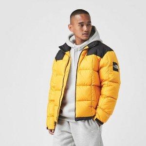 The North Face经典黄黑拼色羽绒服