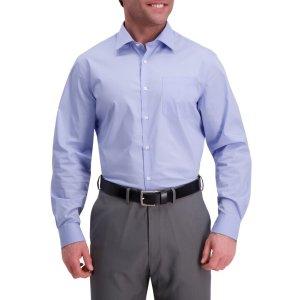 HaggarLight Blue Premium Comfort Dress Shirt