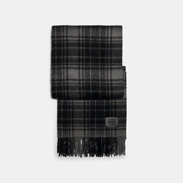 羊毛格纹围巾