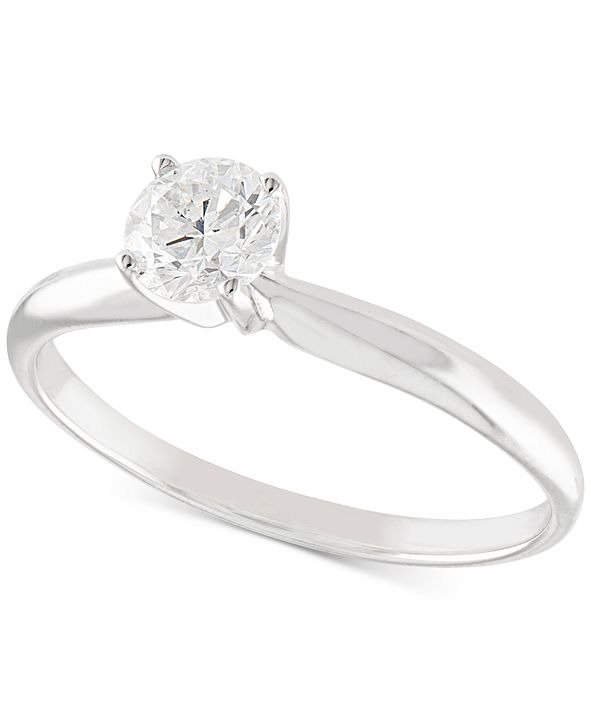 14K White or Yellow Gold钻石戒指