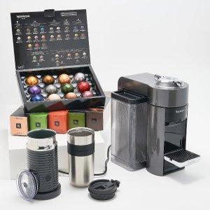 Nespresso Vertuo 胶囊咖啡机+奶泡机组合 含62粒咖啡胶囊