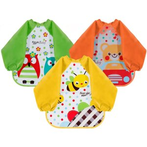$15.29(原价$16.99) 单件$5宝宝防水防尘罩衣3件套 妈圈之光 拯救漂亮小衣服