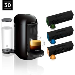 $109.99Today Only: Nespresso VertuoPlus Coffee and Espresso Maker by Breville with Best Selling Coffees Included