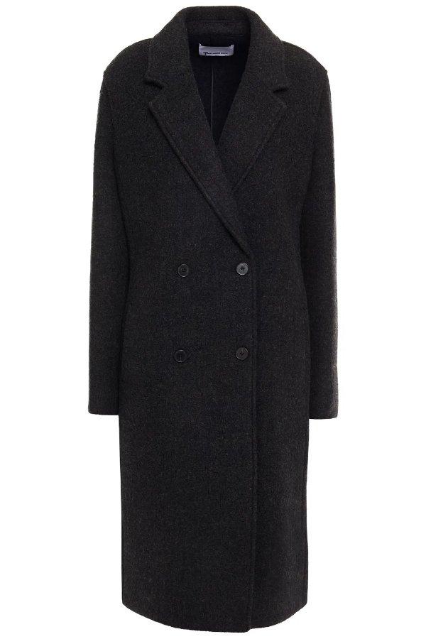 双排扣羊毛大衣