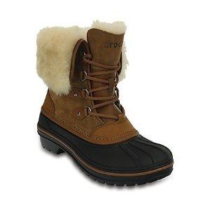 CrocsAllCast II 女士防水羊皮靴