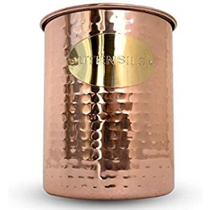 "Amazon.com: Old Dutch 849JB Jumbo Hammered Copper H x 7"" Dia. Utensil Holder, 7x7x7.5,: Gateway"