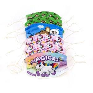plushible儿童口罩 6个装 组合图案