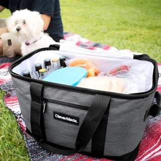 $15.99起 折叠更方便CleverMade 可折叠式野餐冷藏包,购物包,遮阳伞等热卖