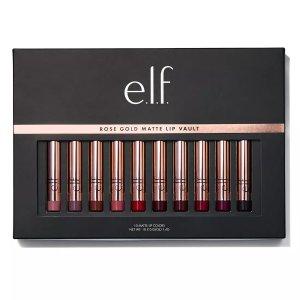 e.l.f玫瑰金哑光唇釉套装
