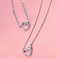 Swarovski 银色心形项链