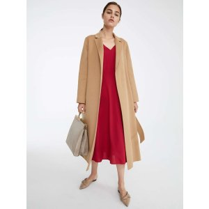 Max MaraWool and angora coat, hazelnut brown -