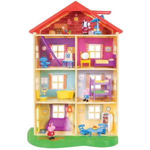 $79.94(原价$97.78)小猪佩奇发光发声娃娃屋,一家人就是要整整齐齐