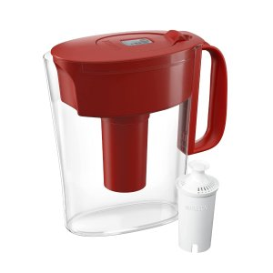 Brita Standard Metro Water Filter Pitcher, Small 5 Cup 1 Count, Red