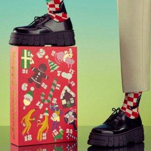 圣诞款潮袜 低至£8一双Happy Socks 圣诞日历上新 定制特别的礼物 减龄潮袜 明星同款
