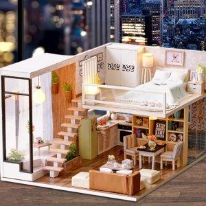 史低价 低至7折 $20.99起网络星期一:Amazon 微型小屋 DIY手工套装 送闺蜜走心的圣诞礼物