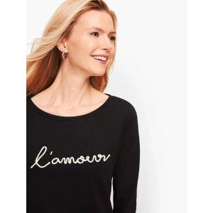 Talbots'L'Amour' T恤