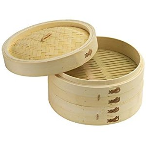 Amazon.com: Steami - Bamboo Steamer (10 inch) with Liners and Recipe Guide: Kitchen & Dining